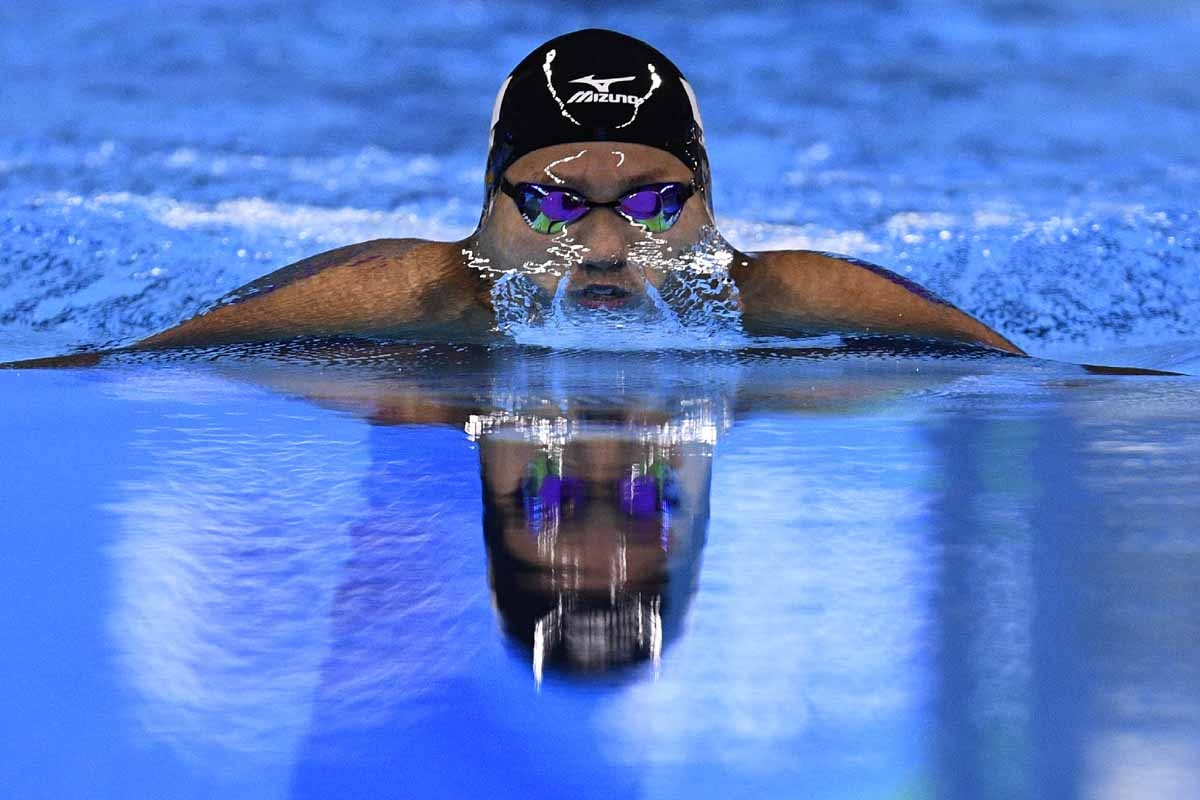 Japan's Ippei Watanabe competes in the Men's 200m Breaststroke Final during the swimming event at the Rio 2016 Olympic Games at the Olympic Aquatics Stadium in Rio de Janeiro on August 10, 2016.