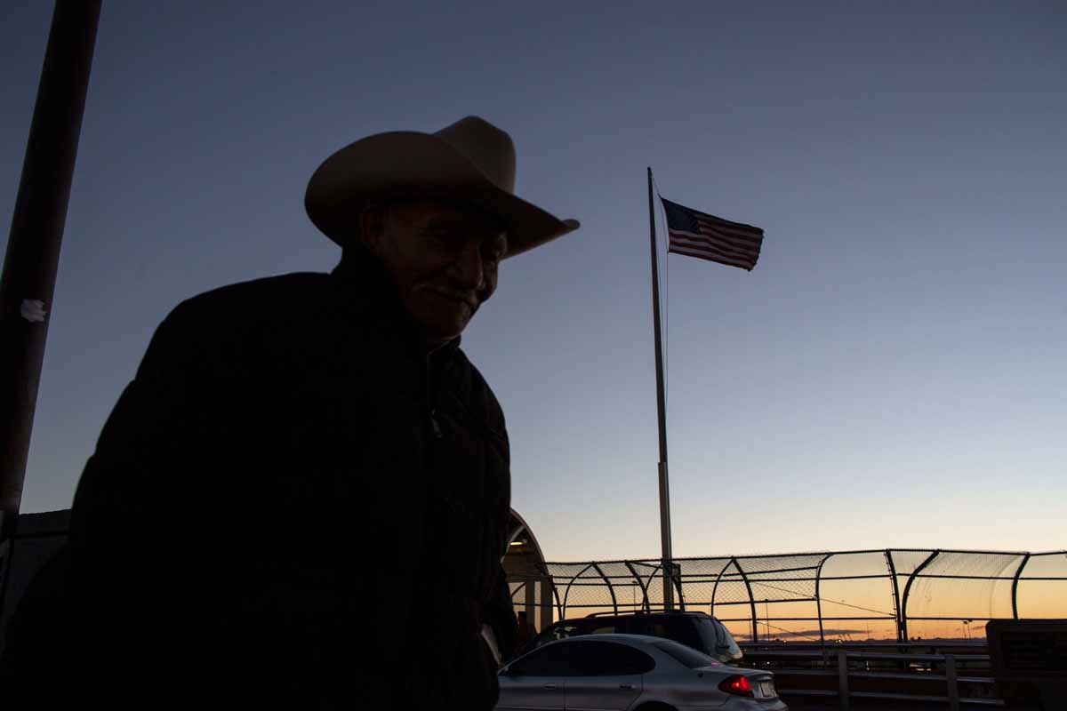 A man walks to Mexico at El Paso del Norte International Bridge on the US/Mexico border in Ciudad Juarez, on February 20, 2017, in northwestern Mexico.