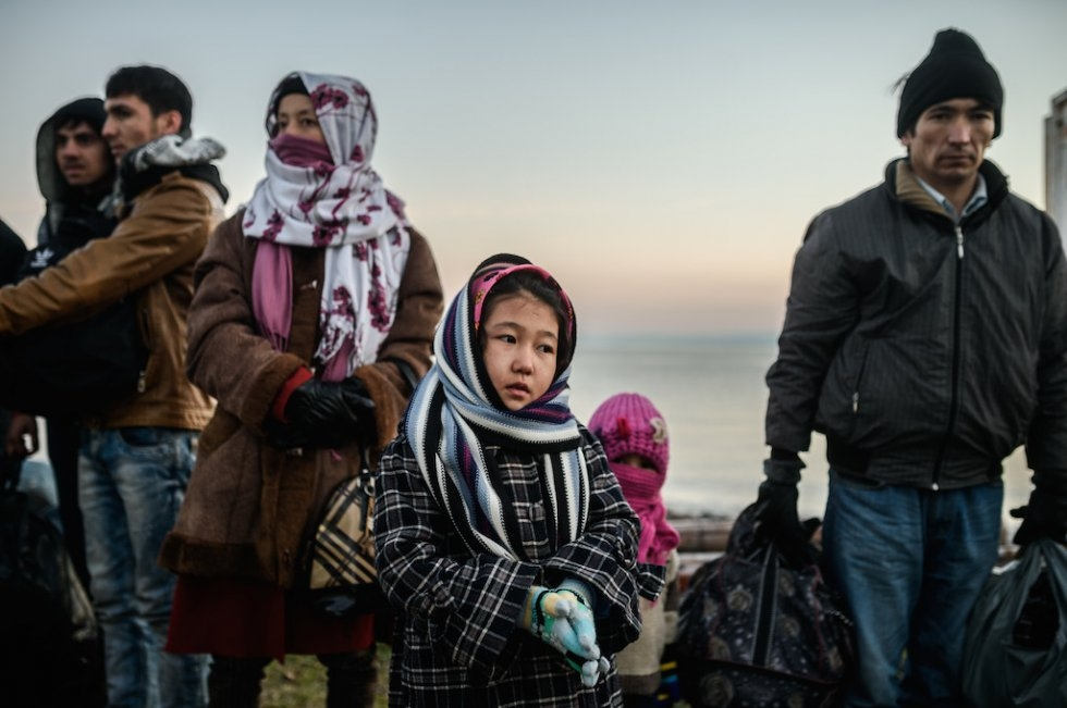 Refugees from Syria and Afghanistan. January 27, 2016.