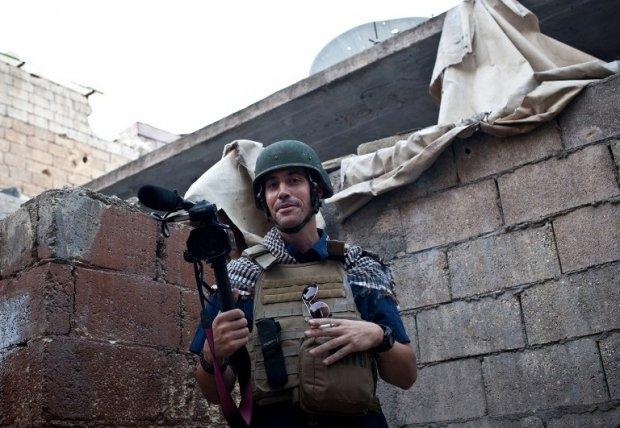 James Foley in Aleppo, November 5, 2012. (AFP Photo/Nicole Tung)