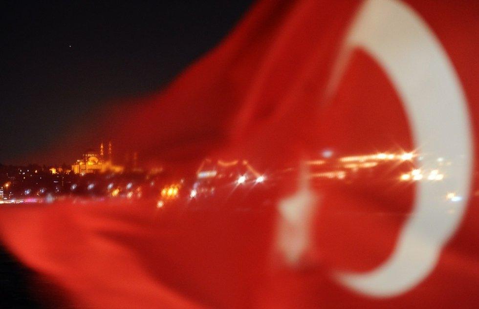 Nighttime Istanbul, October, 2013. (AFP/Bulent Kilic)