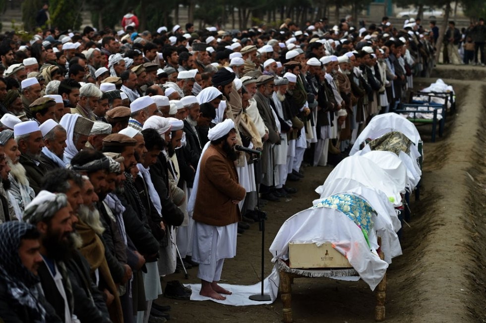 The funeral. (AFP/Wakil Kohsar)
