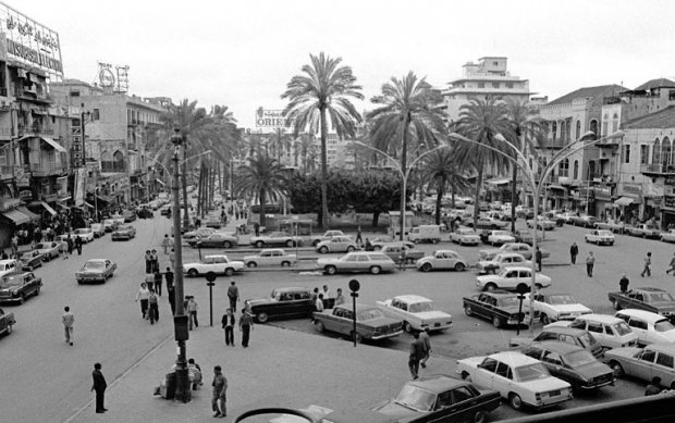 Downtown Beirut in the early 1970s