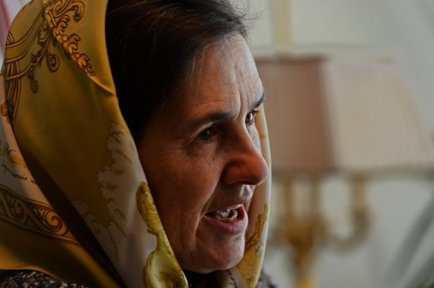 Afghan First Lady Rula Ghani, also known as Bibi Gul, at the Presidential Palace in Kabul on October 30, 2014 (AFP Photo / Shah Marai)