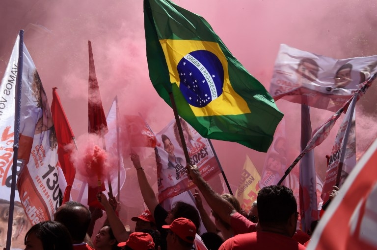 BRAZIL-ELECTION-CAMPAIGN-ROUSSEFF-SUPPORTERS