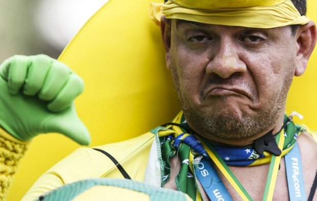 A Brazilian supporter in Sao Paulo during the game against Chile.