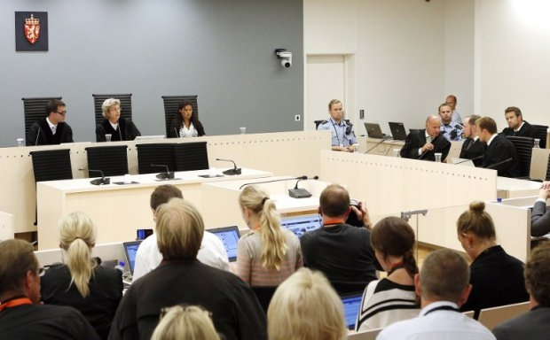 The trial of Anders Behring Breivik in Oslo City Court in August 2012