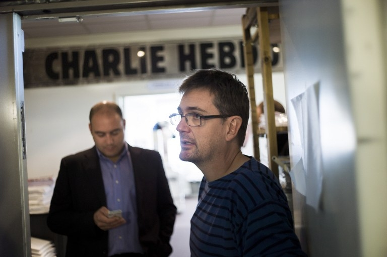 Charlie Hebdo's publisher, known as Charb, on September 19, 2012