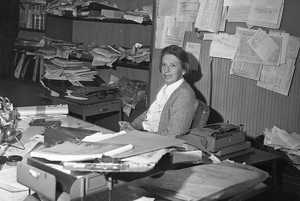 Anna Kipper, AFP's first female bureau chief, in her office in Bogota in the 1970s