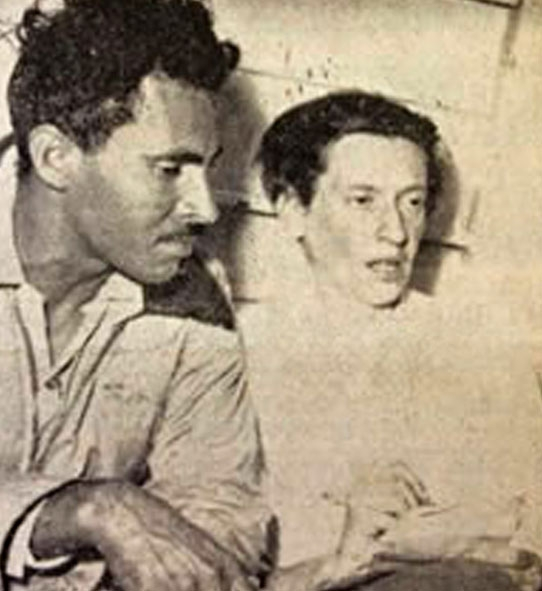 Anna Kipper and the guerrilla leader Guadalupe Salcedo in 1953