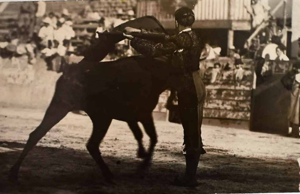 Don Neto as a bullfighter in the 1930s. (Photo courtesy of Don Neto)
