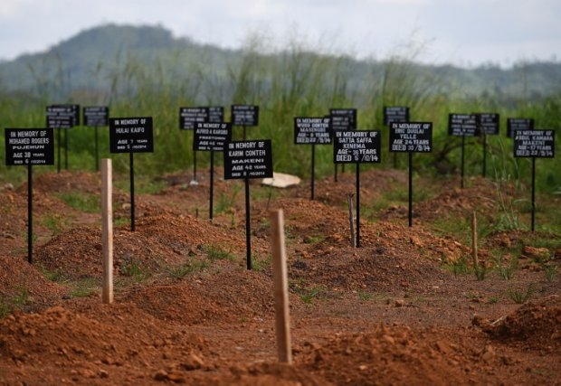The cementery at the Kenema ebola treatment center