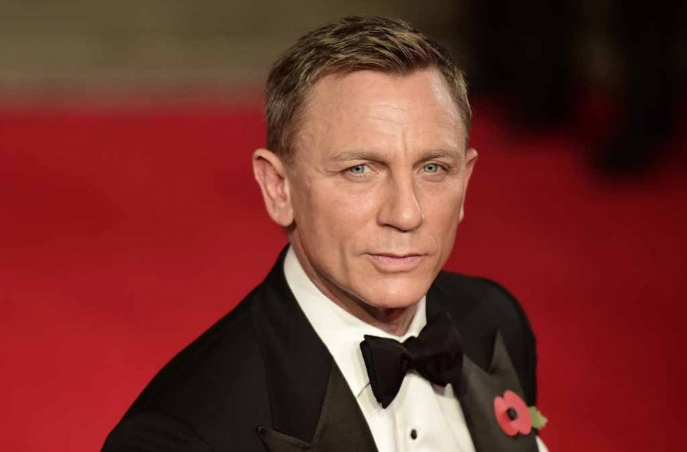 What is he really thinking? Daniel Craig at the premiere. (AFP/Leon Neal)