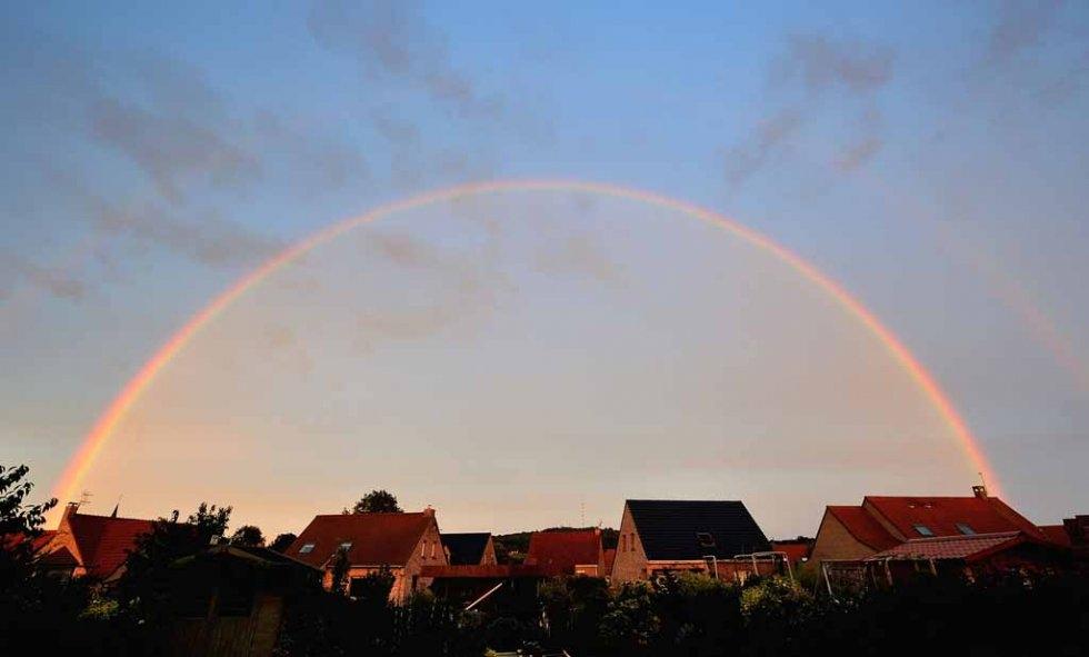 A rainbow over France. August, 2013. (AFP/Philippe Huguen)