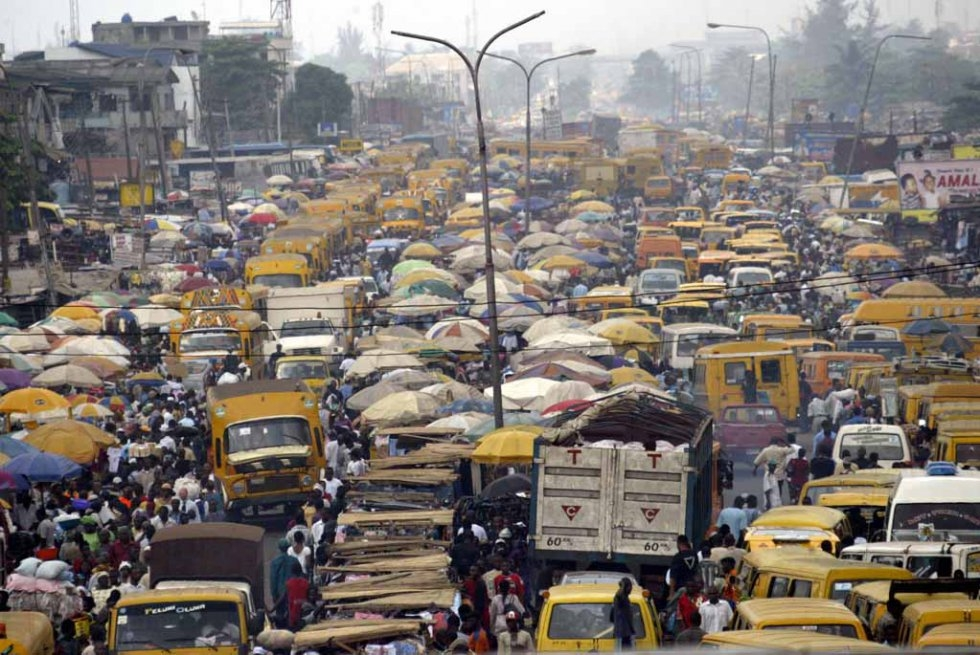 Congestion in Lagos, February, 2006.