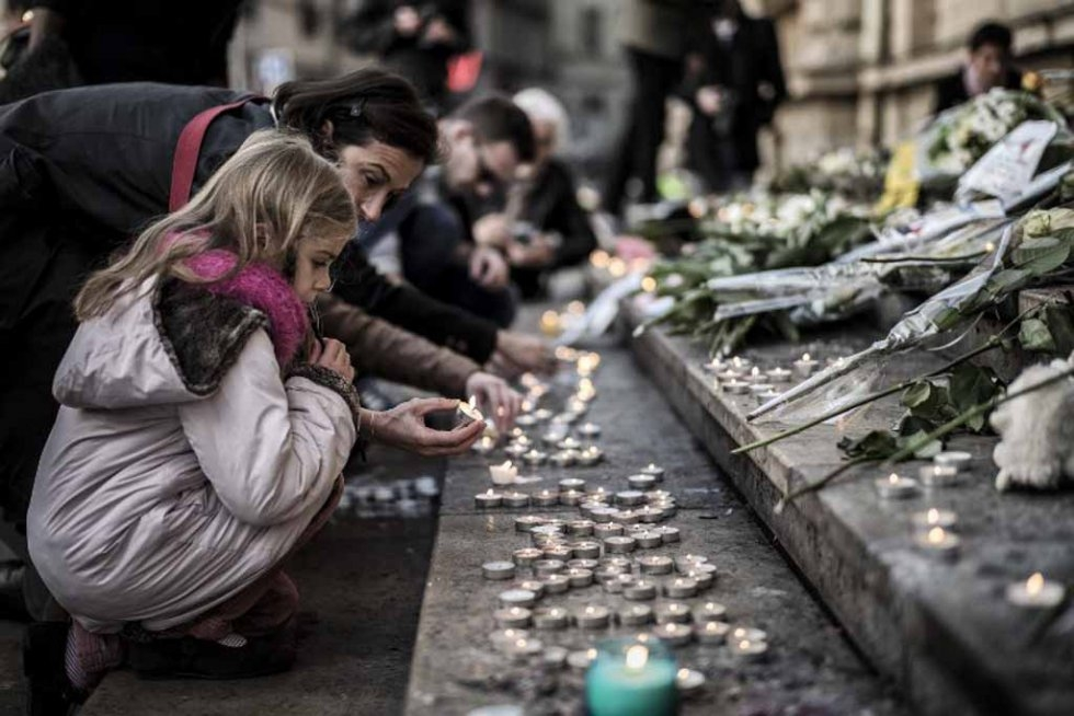 A memorial to victims in Lyon. (AFP/Jeff Pachoud)