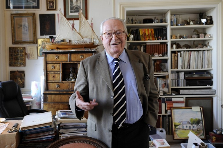 Jean-Marie Le Pen at his home in Saint Cloud near Paris in October 2012