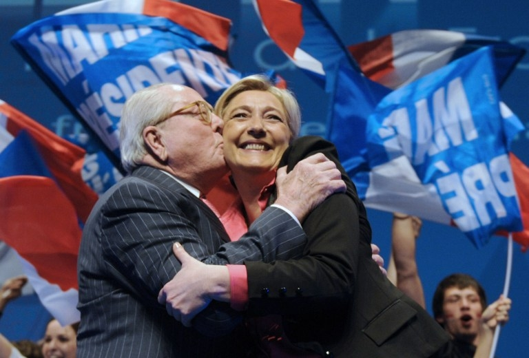 A National Front rally for the 2012 French presidential election in Nice, southern France