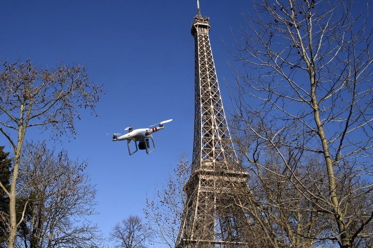 FRANCE-SECURITY-DRONE-MEDIA