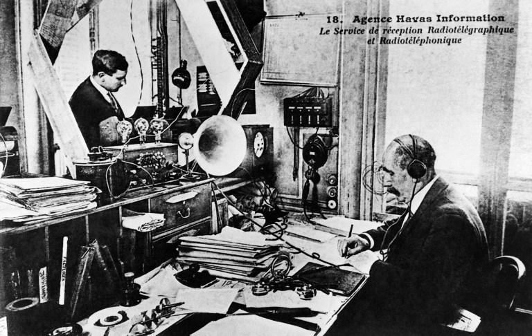 The Paris headquarters of AFP's ancestor, the Press Agency Havas, in 1922