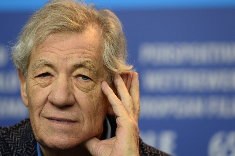 Sir Ian McKellen attends a press conference for 'Mr Holmes' at the Berlinale on February 8, 2015