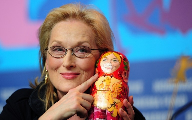 Meryl Streep at a press conference for 'The Iron Lady' at the Berlinale on February 14, 2012