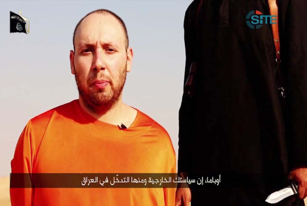 The US journalist Steven Sotloff, who was beheaded by the Islamic State group in September 2014