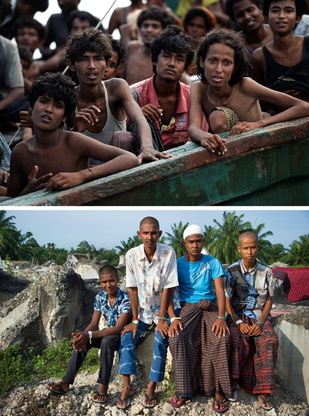 Rohingya migrants from Myanmar