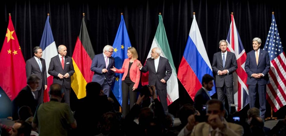 The press conference after Iran nuclear talks in Vienna on July 14, 2015.