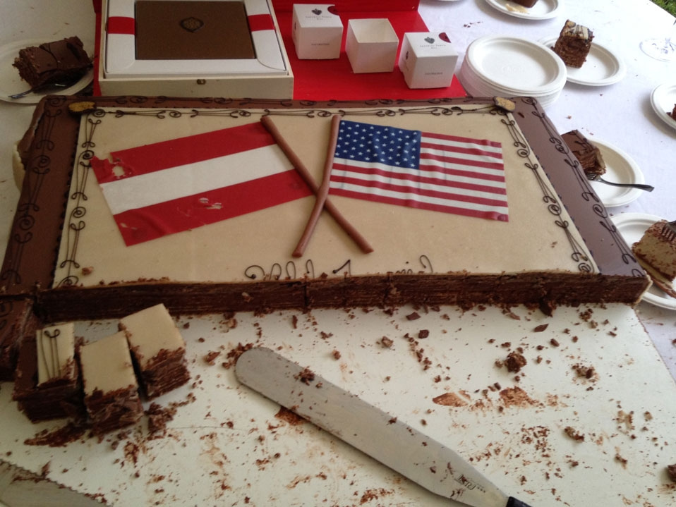 Celebrating the fourth of July far from home, at the US ambassador's residence in Vienna
