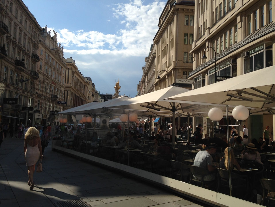 The cafes of Vienna, in July 2015