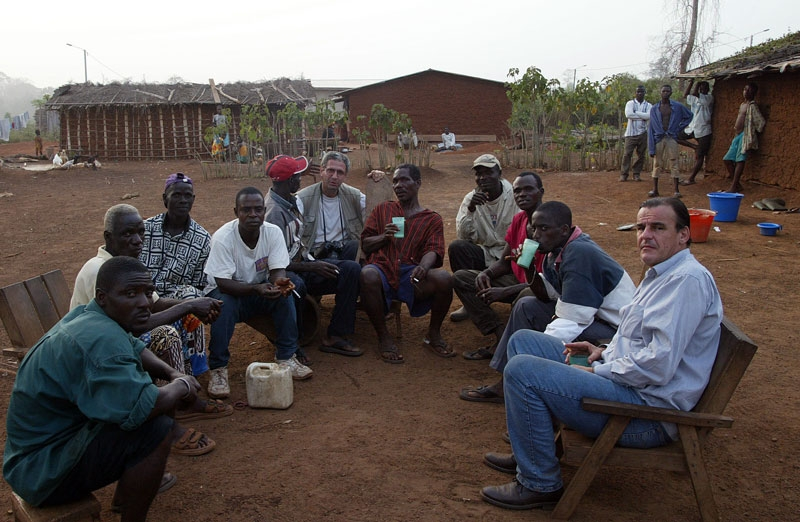 Jacques Lhuillery in a Bete village in Ivory Coast in 2003