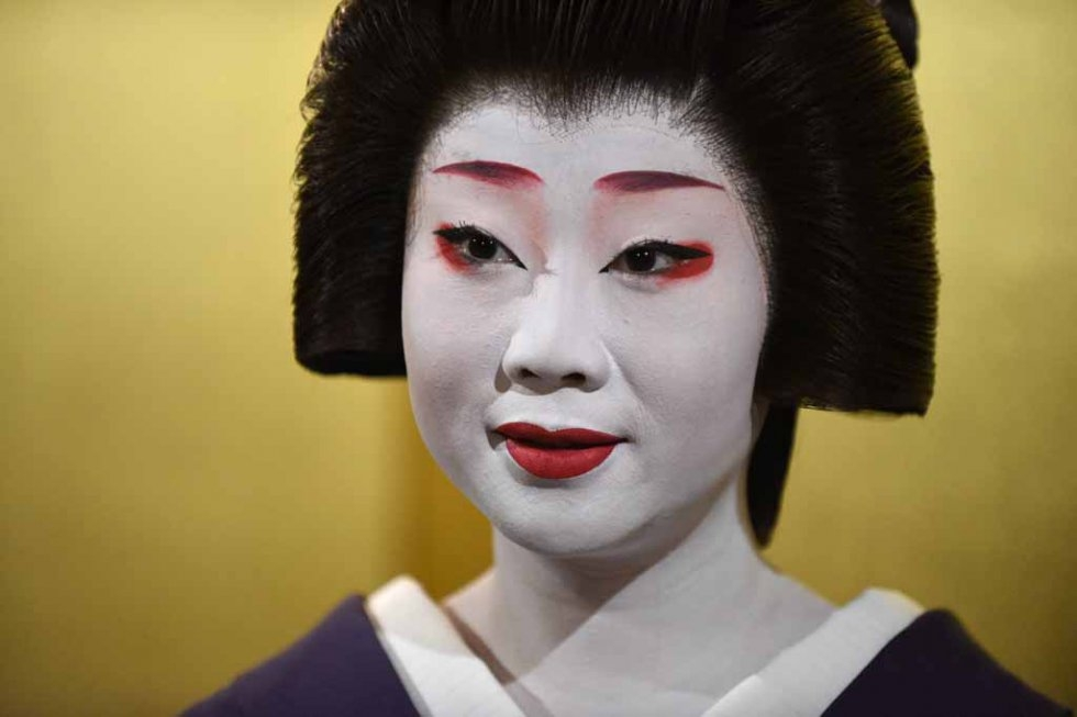 Kikumaru at a Kyoto teahouse. (AFP/Toru Yamanaka)