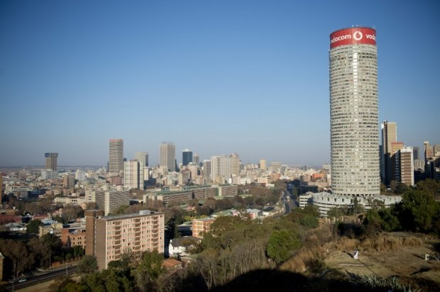 General view of downtown Johannesburg in June 2013. The Africa Check team recently rated a claim made by South Africa's president Jacob Zuma about his government's social housing record to be false