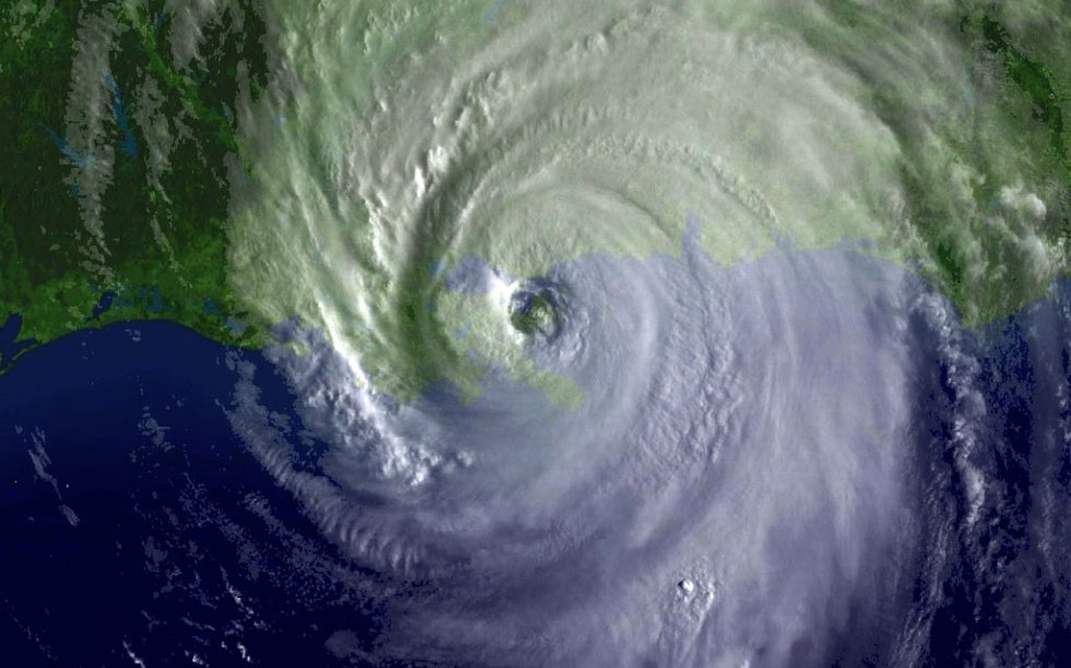 This 29 August, 2005 National Oceanic and Atmospheric Administration (NOAA) satellite image shows Hurricane Katrina as it makes landfall (AFP Photo / NOAA)