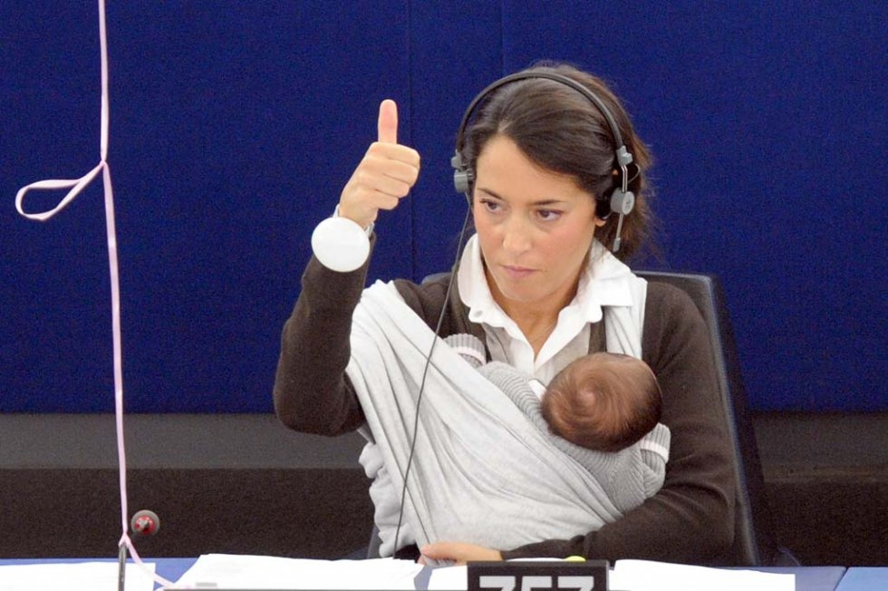 Euro MP Licia Ronzulli at the European Parliament. October, 2010.