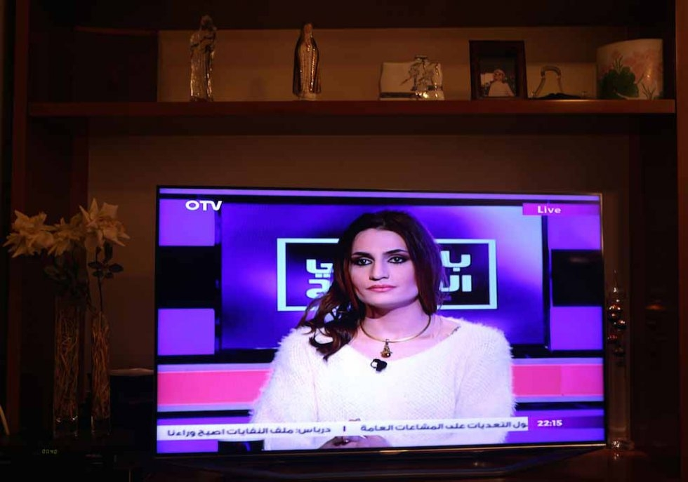Sasha appears on a talk show on OTV, a Lebanese Christian channel. January, 2016.
