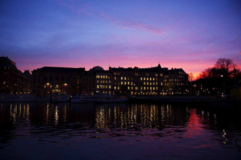 Stockholm at sunset. November, 2011.