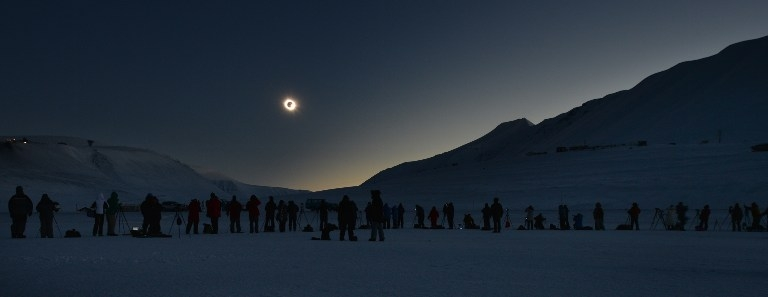 NORWAY-ASTRONOMY-SOLAR-ECLIPSE