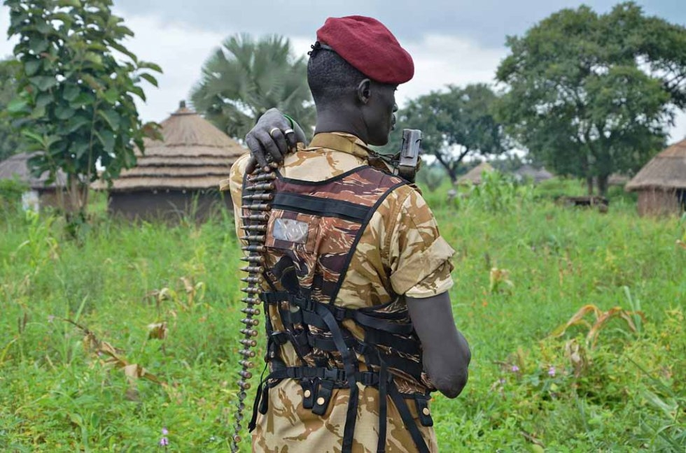 A South Sudan government soldier.