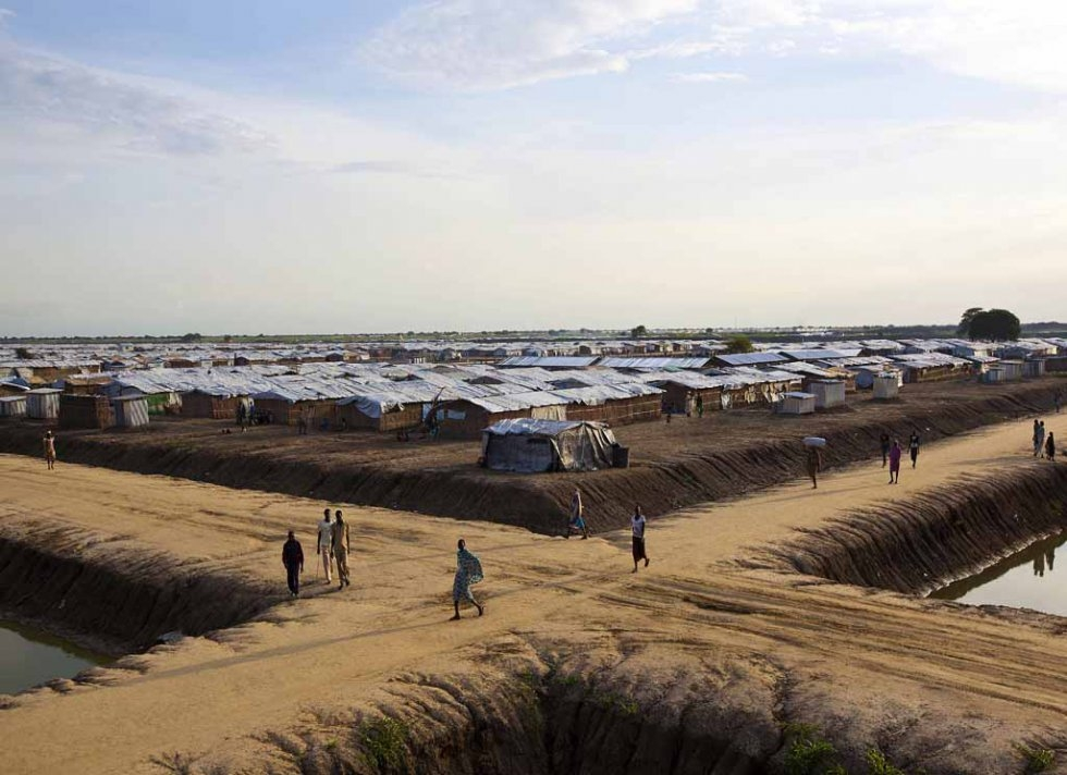 A UN base outside Bentiu.