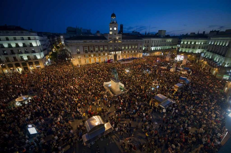 A rally on Puerta del Sol in 2012.