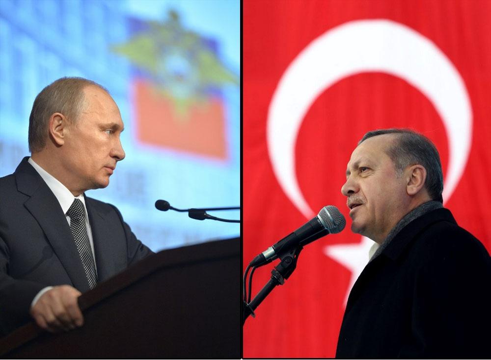 Russia's President Vladimir Putin and Turkey's President Recep Tayyip Erdogan