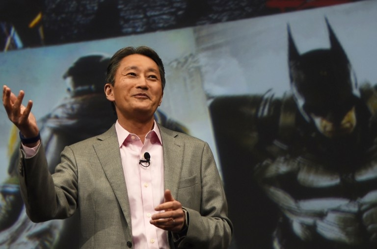 Sony President and CEO Kazuo Hirai at CES on January 5, 2015