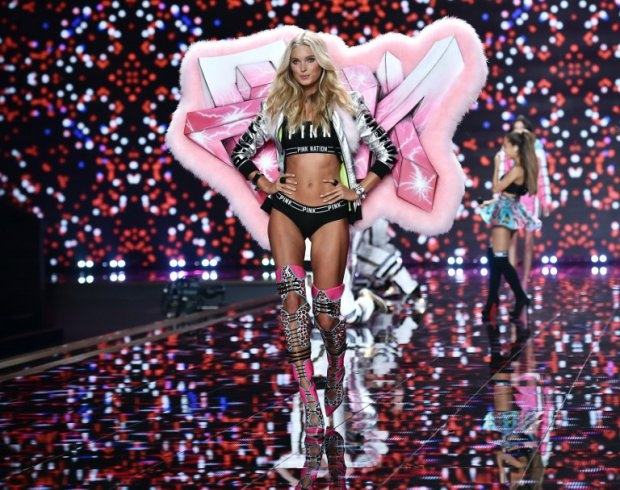 Swedish model Elsa Hosk at the 2014 Victoria's Secret Fashion Show