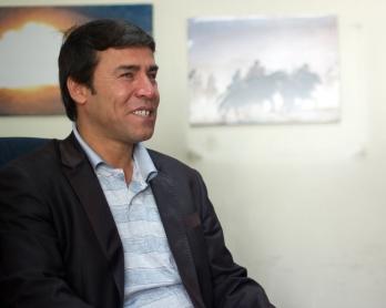 Shah Marai en la oficina de AFP en Kabul, el 17 de abril de 2012