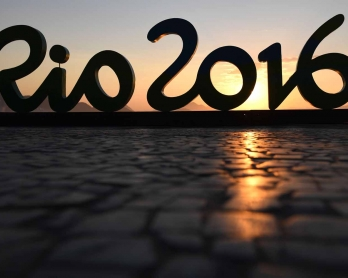 The sun rises over Copacabana beach during the Rio 2016 Olympic Games in Rio de Janeiro on August 6, 2016.