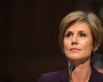 Former acting Attorney General Sally Yates prepares to testify on May 8, 2017, before the US Senate Judiciary Committee on Capitol Hill in Washington, DC.