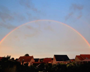 A rainbow over France. August, 2013. (AFP/Philippe Huguen)