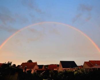 A rainbow over France. August, 2013.